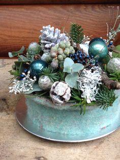 Ijsblauwe kerst bij BLOM BLoemwerk Op Maat #Wageningen#Bennekom