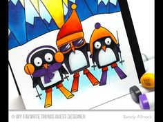 Copic Coloring: Chill Wishes with Sandy Allnock