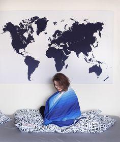 mapa swiata diy, mapa świata na ścianę, mapa na ścianę, mapa ścienna, instrukcja, DIY