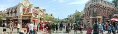 Live panoramic from Main Street USA #Disneyland ~ I miss you, Disneyland!