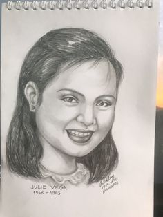 Julie Pearl Apostol Postigo, better known by her stage name Julie Vega, was a Filipina child actress, singer and commercial model. She remains very popular in her native Philippines, years after her death at the peak of her career at age of Celebrity Drawings, Child Actresses, Filipina, Pencil Drawings, Philippines, Stage, Career, Commercial, Death