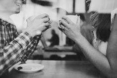 coffee shop engagement shoot - Jamie Delaine