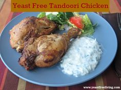 SCD Indian Tandoori Chicken (*Use SCD legal garam masala. Yeast Free Recipes, Scd Recipes, Eating Well, Clean Eating, Healthy Eating, Chicken Ideas, Chicken Recipes, Ina Garden, Candida Diet Recipes