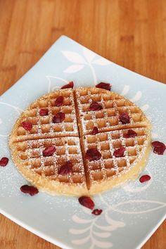 Eggless Wholewheat Waffles