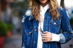 Acne - ripped up denim jacket