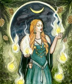 "LOKI'S MOTHER: Laufey, or Nál, consort of Farbauti. Nál means ""needle""; according to Sörla þáttr, Laufey was also called this because she was ""both slender and weak."" The meaning of Laufey is less clear but is generally taken to be ""full of leaves""; as Fárbauti means ""dangerous hitter,"" there is a possible nature mythological interpretation with lightning hitting the leaves or needles of a tree to give rise to fire. Therefore Loki is born of Fire, which is both life keeping and life…"