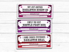Romantic gift vouchers  gift idea for him or her by thisisknockout, £4.00