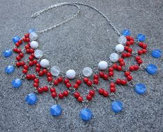 Silver Chain Necklace-Make Bead Charms with Headpins #diy
