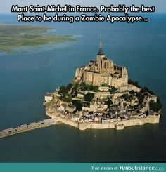 Incredible castle in the middle of the ocean