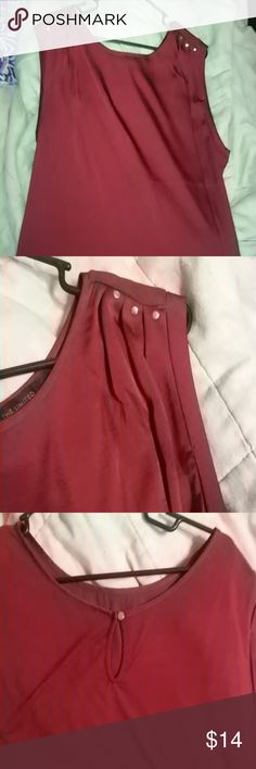 Burgandy sleeveless shell NWOT The Limited Tops Blouses