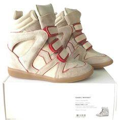 9b4d76af6d1f Isabel Marant Sneakers Sneaker Suede Beige Athletic Wedge High Tops