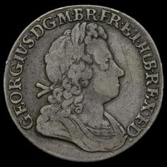 1723 George I Early Milled Silver SSC Shilling, French Arms at Date, Very Rare