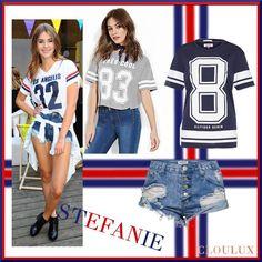 Stefanie Giesinger in einer kurzen Hose und bedruckten T-Shirt Sports, Tops, Style, Fashion, Shorts, Sporty, Trousers, Hs Sports, Swag