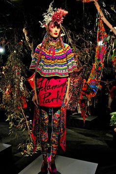 Another legend within the Australian fashion scene is Jenny Kee who creates radiant, intricate knitwear
