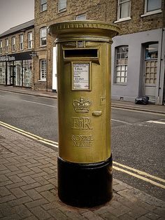 Postbox in Great Britain.