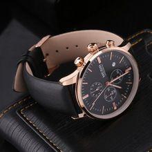 MEGIR ML2011 Luxury Men's Leather Band Watch Quartz Analog Date Wristwatch New Hot Selling(China (Mainland))
