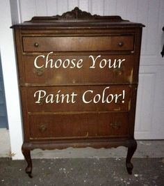 Solid Pine Tall Vintage Dresser. Choose your Paint Color! Make it Shabby Chic or Vintage Retro!  Measures: 50 High x 32 Wide x 19 Deep  You may pick