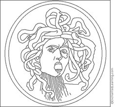 Caravaggio Medusa Coloring Page Find This Pin And
