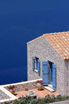 Amazing colours of the Mediterranean in Oitylo village, Peloponnese , Greece