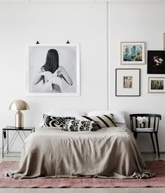 Bed Without Headboard || Gallery Wall Inspo