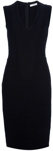 GIVENCHY little black dress  Fitted Sleeveless Dress - Lyst