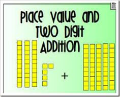 FREE Place Value and Two Digit Addition Flip Chart for the Promethean Board