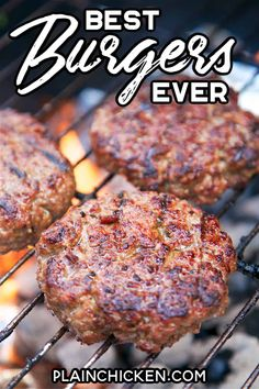 Best Burgers EVER! – these are hands down the best burgers I've ever eaten! Hamburger, on Grilled Burger Recipes, Grilling Recipes, Meat Recipes, Cooking Recipes, Turkey Burger Recipes, Best Bbq Recipes, Barbecue Recipes, Dinner Recipes, How To Cook Burgers