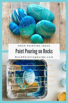 Easy and Fun Paint Pouring on Rocks Tutorials and Tips Rock painting ideas and craft projects too Pour Painting, Pebble Painting, Pebble Art, Stone Painting, Matte Painting, Rock Painting Ideas Easy, Rock Painting Designs, Rock Crafts, Crafts To Make