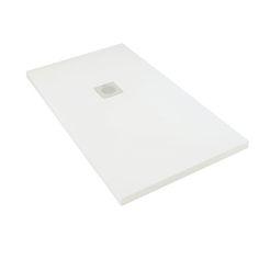 Plato de ducha de fibra de vidrio BOSTON RECTANGULAR - Leroy Merlin
