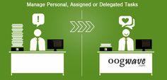Task Management with Oogwave.  Manage self tasks. Assign, delegate and track team tasks.