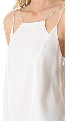 Tibi Heavy Silk Strappy Camisole