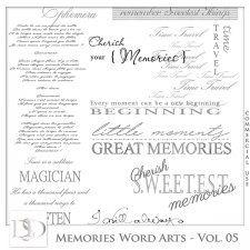 Memories Word Arts Vol 05 by D's Design  #CUdigitals cudigitals.com cu commercial digital scrap #digiscrap scrapbook graphics