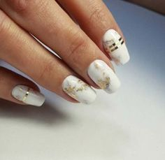 Best Nail Art Ideas for Brides - Golden Marble - Simpe, Cute, DIY NailArt Tutorials That Are Step By Step For Brides. Everything From The Wedding Manicure To French Tips To Simple Sparkle and Bling For The Ring Finger. These Are Super Fun And Super Easy. - https://thegoddess.com/nail-art-ideas-for-brides