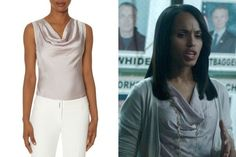 Our Cowl Neck Shell Top in Lilac that Olivia Pope wore in last week's episode of Scandal was featured on Style Bistro in their TV Fashion Roundup. Shop the look on TheLimited.com