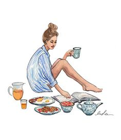 Love this...if only I had time to leisurely drink my coffee, eat a breakfast feast and skim a magazine like this! ;)
