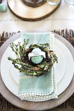 Egg-Name-Card | DIY Spring Table Decor Center Pieces | Easy Easter Centerpieces DIY Dollar Tree