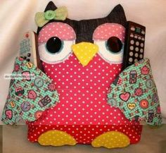 Owl Pillow-remote control holder3