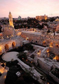 Tower of David in #Jerusalem's old city, #Israel.