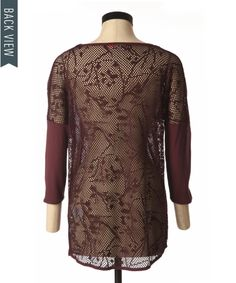 bootlegger.com : only bolette lace back top in oxblood