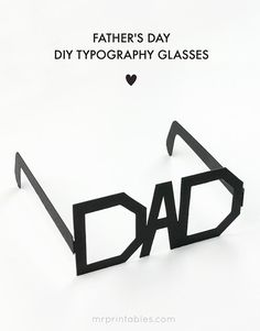 Fathers Day Card = Funky DAD Glasses!!! Perfect last minute gift. Free printable.
