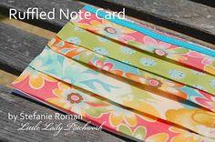 Ruffled Note card