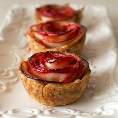 Mini Apple Rose Pies--so adorable but not sure if these will travel well.