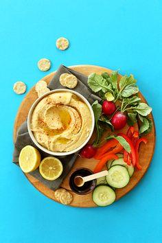 5-Minute Microwave Hummus! #vegan #glutenfree and totally restuarant-worthy!