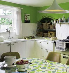 white & green kitchen for @Elizabeth Lockhart Ripley Horn