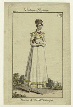 """""""Costume de Bal de Campagne."""" 1812 ball gown. Costume Parisien."""
