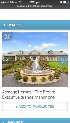 Real Bronte House, Dream Images, Facade, Fountain, Dreaming Of You, House Design, Mansions, House Styles, Outdoor Decor