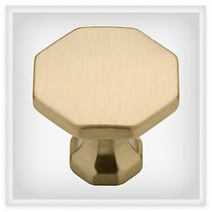 LIBERTY 30mm Octo Knob - Soft Brass - P20380-SBS-C (LIBERTY P20380-SBS-C), Decorative Knobs for Kitchen or Bathroom Cabinet Doors & Furniture | Liberty Hardware