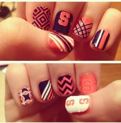 Serious Syracuse Nail Art!
