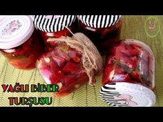 YAĞLI KIRMIZI BİBER TURŞUSU/HIZLI VE PRATİK YÖNTEM İLE/ŞEFFAF MUTFAK /KIŞLIK HAZIRLIKLAR - YouTube Canning Recipes, Vegetables, Food, Youtube, Preserve, Essen, Vegetable Recipes, Meals, Yemek