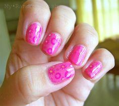 Pink over Pink Stamping by RndomStashNails - Nail Art Gallery nailartgallery.nailsmag.com by Nails Magazine www.nailsmag.com #nailart